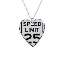 Speed Limit 25 Sign Necklace