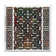 Rusty Celtic Knot Tile Coaster