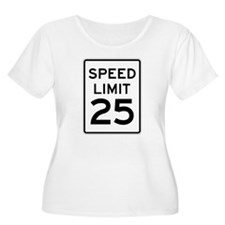 Speed Limit 25 Sign Plus Size T-Shirt