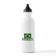 I HEART BRAZIL FLAG Water Bottle