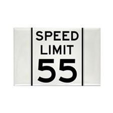 Speed Limit 55 Sign Rectangle Magnet (100 pack)