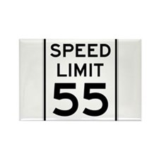 Speed Limit 55 Sign Rectangle Magnet (10 pack)