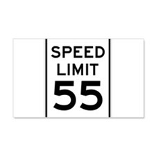 Speed Limit 55 Sign Wall Decal