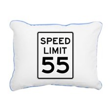 Speed Limit 55 Sign Rectangular Canvas Pillow