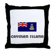 I HEART CAYMAN ISLAND FLAG Throw Pillow