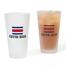 I HEART costa rica FLAG Drinking Glass