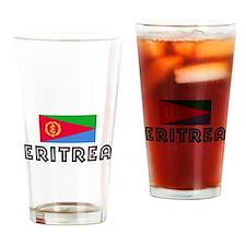 I HEART ERITREA FLAG Drinking Glass