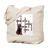 Gordon Setter Crossword Tote Bag
