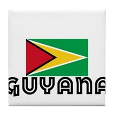 I HEART GUYANA FLAG Tile Coaster