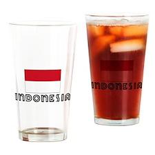 I HEART INDONESIA FLAG Drinking Glass