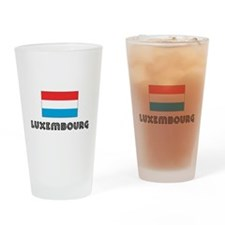 I HEART LUXEMBOURG FLAG Drinking Glass