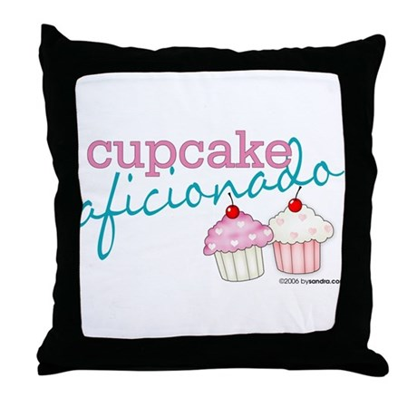 Cupcake Aficionado Throw Pillow