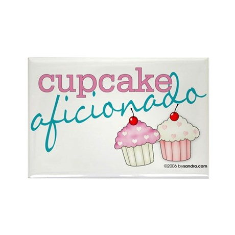 Cupcake Aficionado Rectangle Magnet (100 pack)