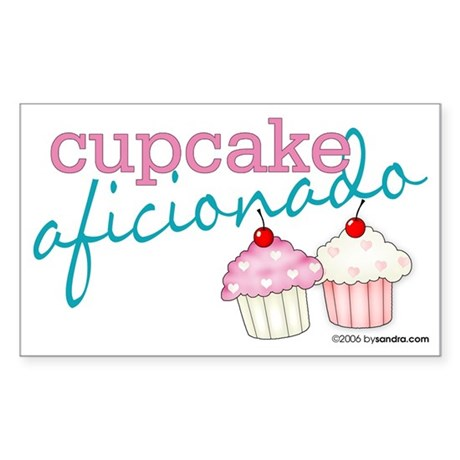 Cupcake Aficionado Rectangle Sticker