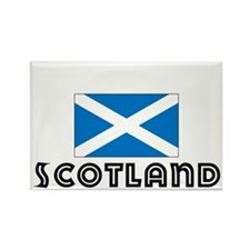I HEART SCOTLAND FLAG Rectangle Magnet