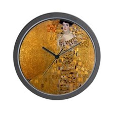 Adele Bloch Bauer by Klimt, Painting Wall Clock