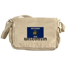 I HEART WISCONSIN FLAG Messenger Bag