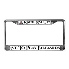 """Play Billiards"" License Plate Frame"