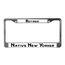 """Retired Native New Yorker"" License Plat"