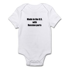 Made in the U.S. with Russian Parts Infant Bodysui