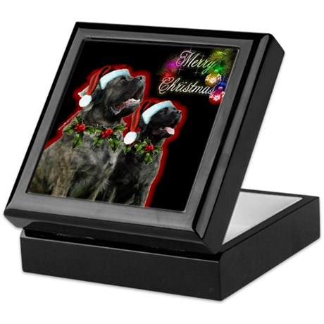 Brindle Merry XMas Keepsake Box
