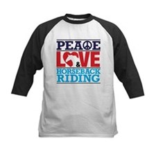 Peace Love and Horseback Riding Baseball Jersey