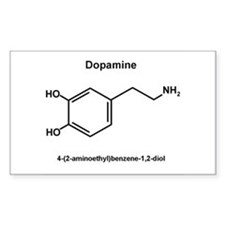 Dopamine Molecule and IUPAC Name Decal