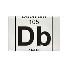 Element 105 - Db (dubnium) - Full Rectangle Magnet