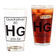 Element 80 - Hg (quicksilver) - Full Drinking Glas