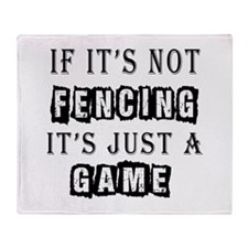 Fencing Designs Throw Blanket