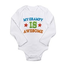 My Grampy Is Awesome Long Sleeve Infant Bodysuit