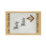 The Masonic Oath Rectangle Magnet (10 pack)