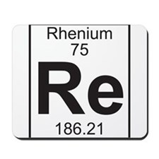 Element 75 - Re (rhenium) - Full Mousepad