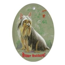 Silkie Terrier Oval Ornament