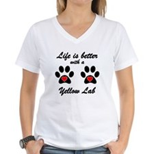 Life Is Better With A Yellow Lab T-Shirt