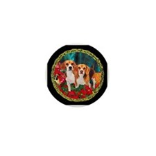 Beagle Christmas Watercolor Mini Button (10 pack)