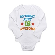 My Great Aunt Is Awesome Long Sleeve Infant Bodysu