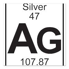 Element 47 - Ag (silver) - Full Square Car Magnet
