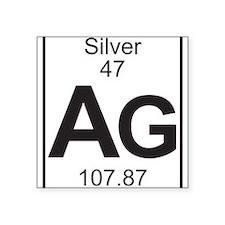 Element 47 - Ag (silver) - Full Sticker