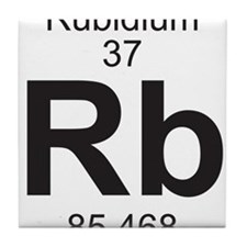 Element 37 - Rb (rubidium) - Full Tile Coaster