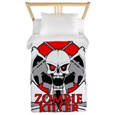 Zombie killer red Twin Duvet