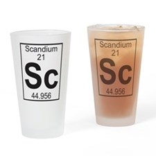 Element 21 - Sc (scandium) - Full Drinking Glass