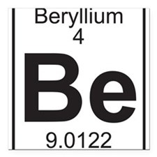 Element 4 - Be (beryllium) - Full Square Car Magne