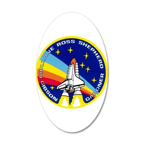 Atlantis: STS 27 20x12 Oval Wall Decal