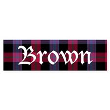 Tartan - Brown Bumper Sticker