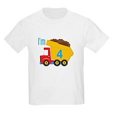 Dump Truck I'm 4 T-Shirt