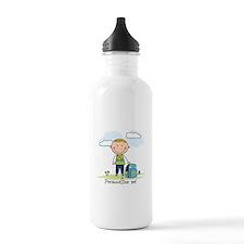 School boy - personalize - Water Bottle