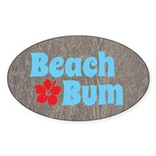 Beach Bum Stickers