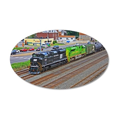 Norfolk Southern Heritage. 35x21 Oval Wall Decal