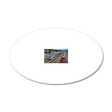 The Monongahela and Lackawan 20x12 Oval Wall Decal